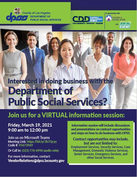 DPSS webinar public social services