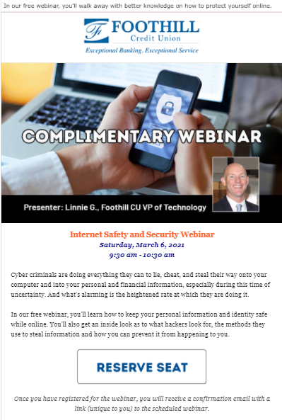 Foothill Credit Union webinar