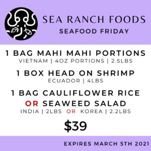 Sea Ranch Seafood Friday