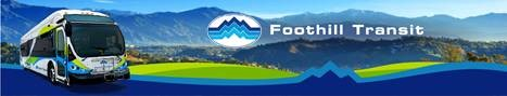 Foothill Transit Banner with Bus
