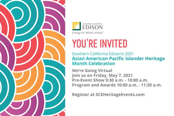 2021 So Cal Edision Asian American Pacific Islander Heritage Event Invite