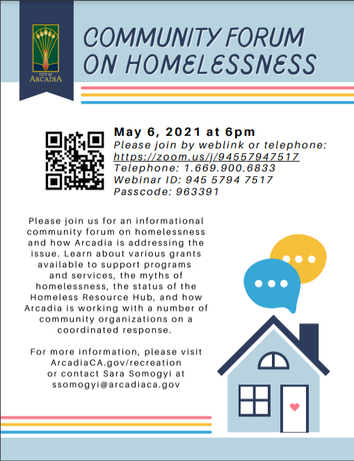 rcadia Community Forum on Homelessness