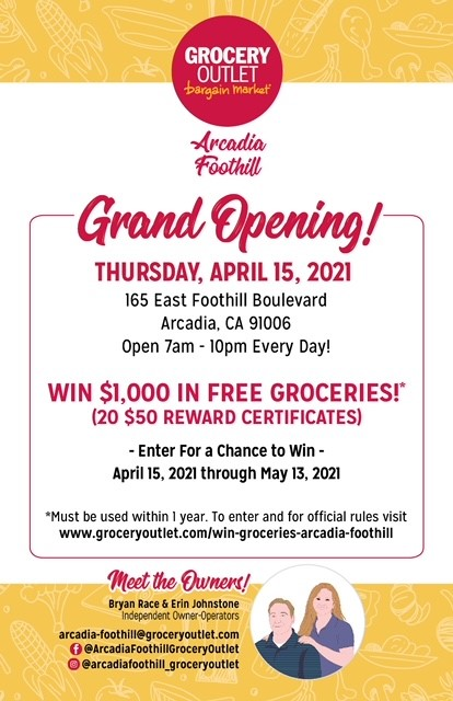Grocery Outlet Grand Opening English