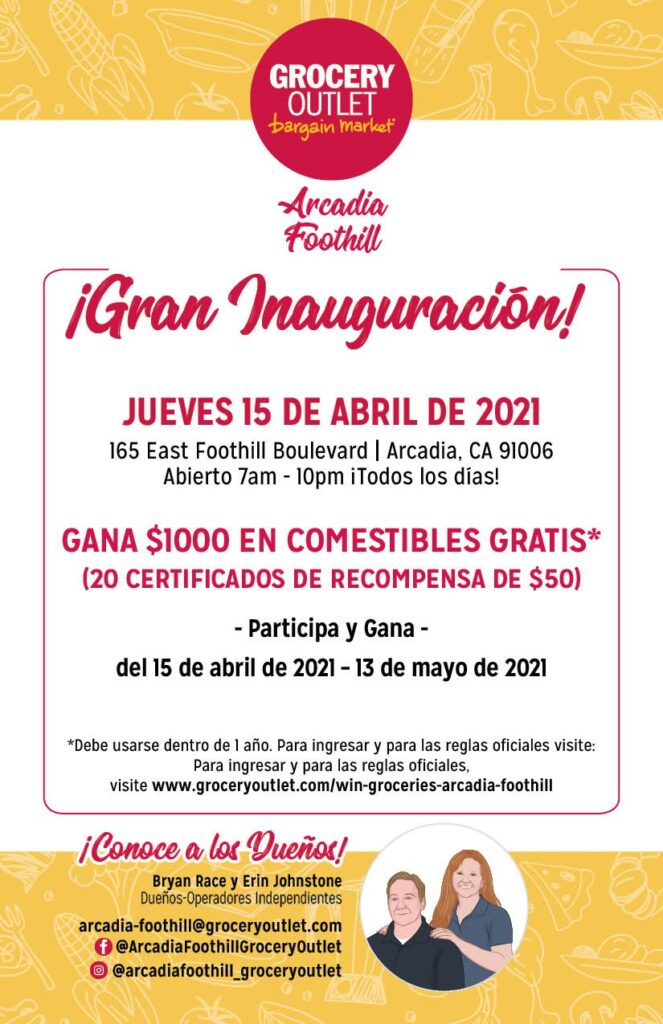 Grocery Outlet Grand Opening Spanish