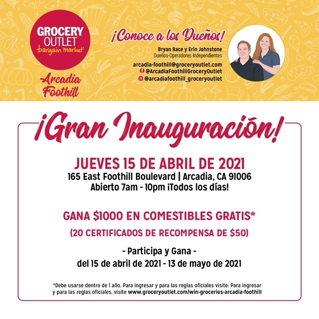 Grocery Outlet Foothill Grand Opening Spanish
