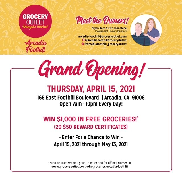 Grocery Outlet Foothill Grand Opening English