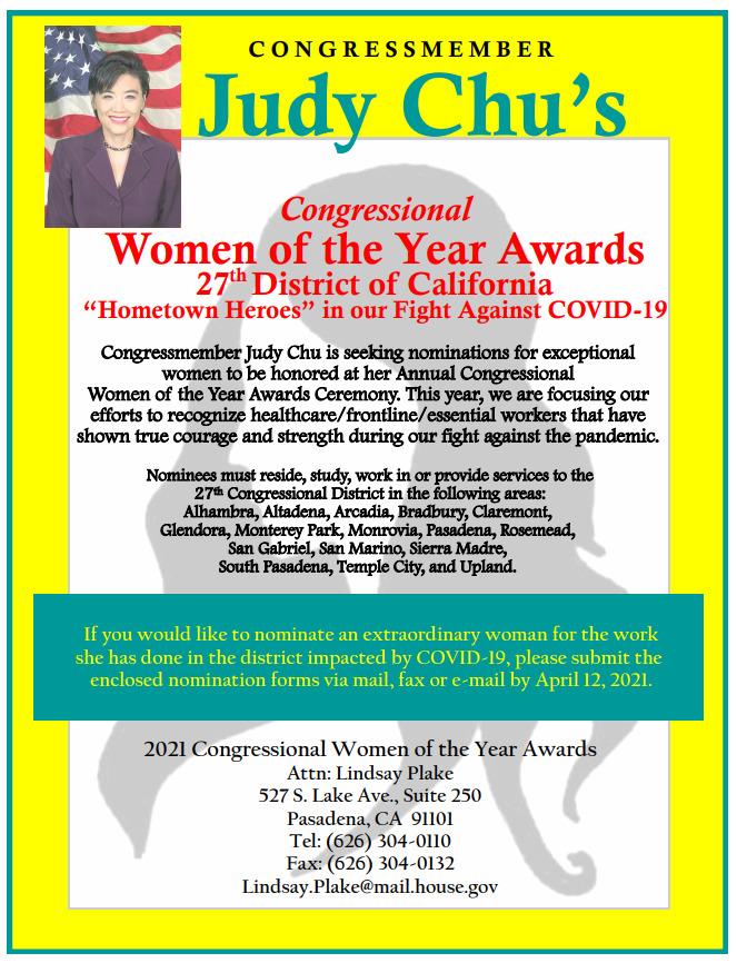 Judy Chu Woman of the Year awards