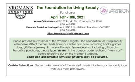 Vroman's Voucher for Foundation for Living Beauty
