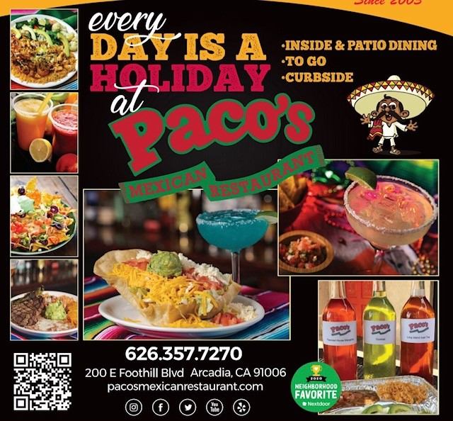 Paco's Now Open for Indoor dining