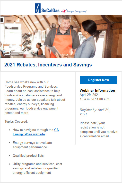 SoCalGas Rebates and Incentives Webinar