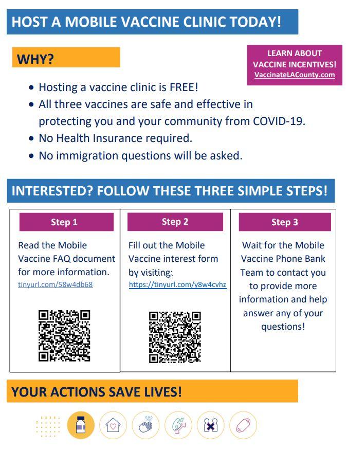 LA County mobile vaccination clinic
