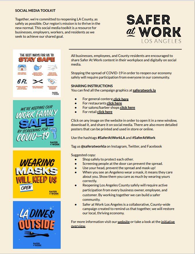 Safer at Work LA toolkit