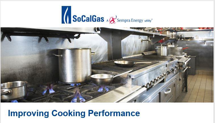 SoCalGas Improve Cooking Performance Webinar Flyer