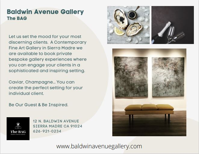 The BAG private bespoke gallery opportunities