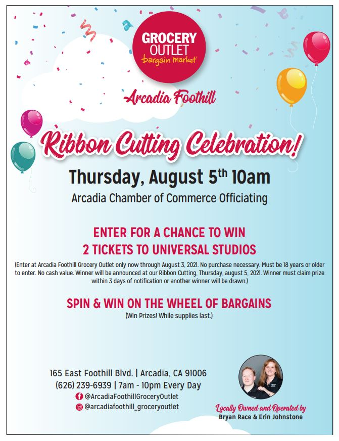 Grocery Outlet Foothill Ribbon Cutting Flyer