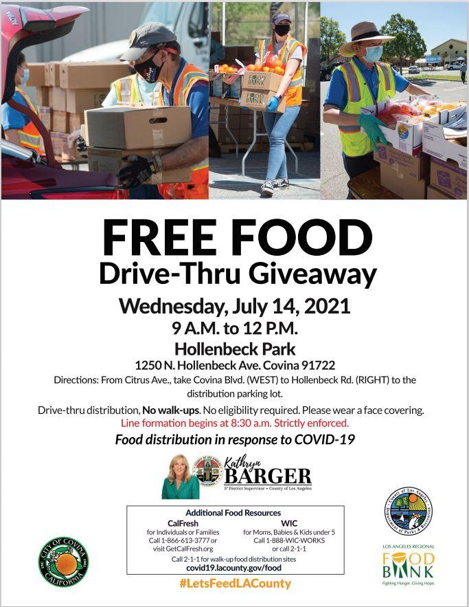 Kathryn Barger Food Drive Giveaway flyer