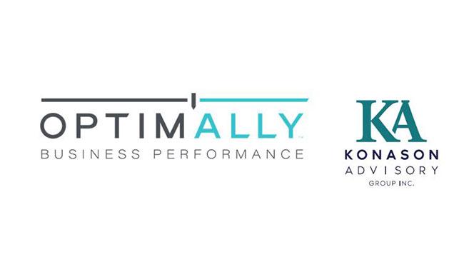 Optimally Business Performance and Konason Advisory Logo