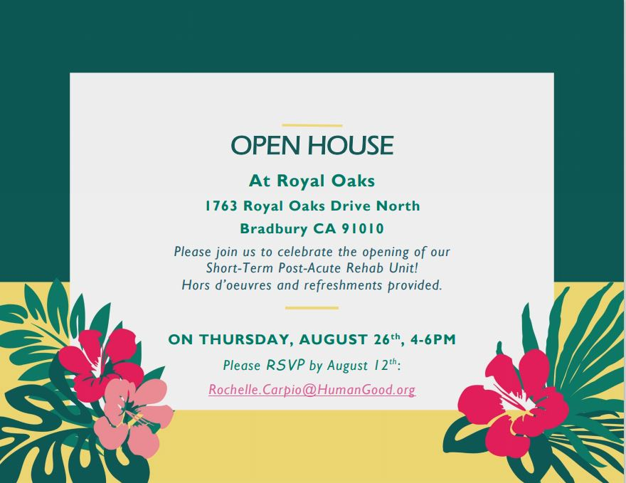 Royal Oaks Open House flyer