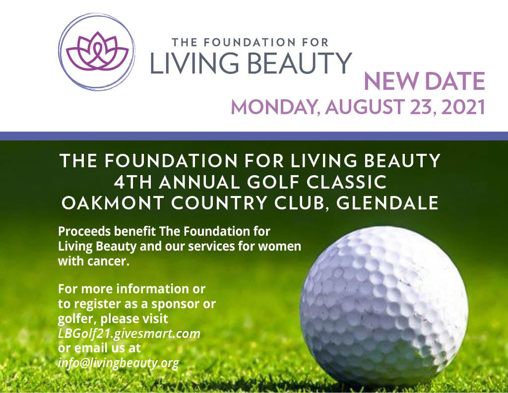 Foundation for Living Beauty Golf Tournament flyer