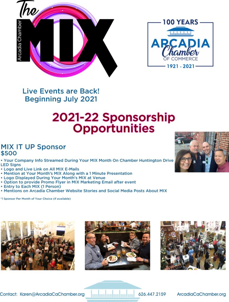 image of The MIX Sponsorship Opportunities flyer