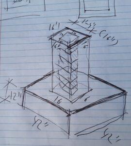 construction blueprint design on lined paper by Erenay Design Build