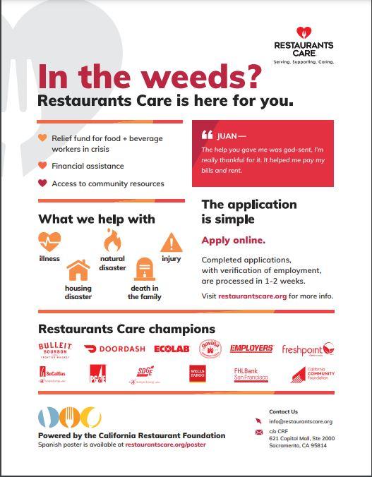 Restaurants Care program information
