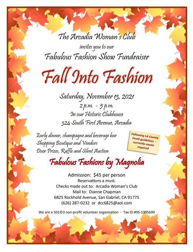 Arcadia Woman's Club Fall Fashion Show