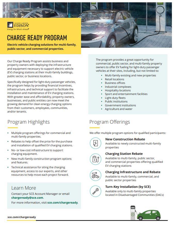 Edison Charge Ready Program info