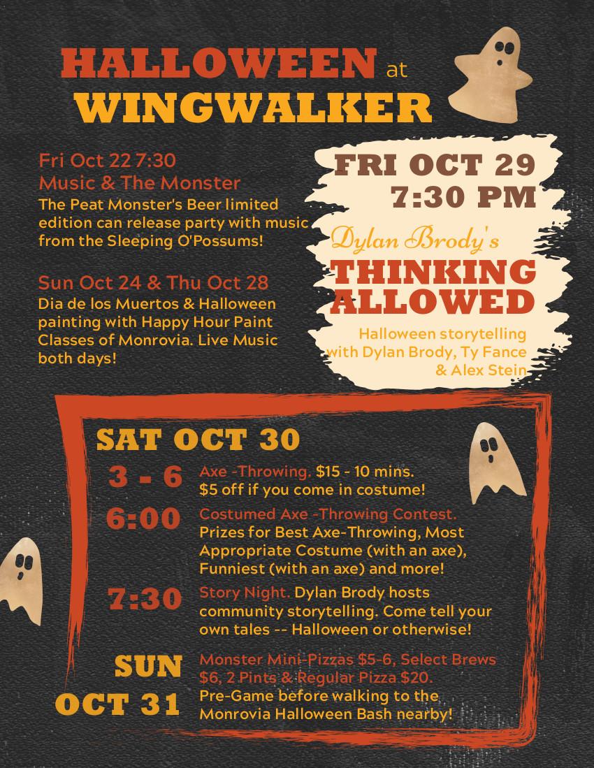 Wingwalker Halloween events for October